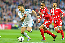 May 2, 2018 - Madrid, Spain - MADRID, SPAIN. May 1, 2018 - Aseinsio with the ball. With a 2-2 draw against Bayern Munchen, Real Madrid made it to the UEFA Champions League Final for third time in a row. Kimmich and James scored for the german squad while Karim Benzema did it twice for los blancos. Goalkeeper Keylor Navas had a great night with several decisive interventions. (Credit Image: © VW Pics via ZUMA Wire)