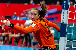 Blanka Biro of Hungary in action during the Women's EHF Euro 2020 match between Netherlands and Hungry at Sydbank Arena on december 08, 2020 in Kolding, Denmark (Photo by RHF Agency/Ronald Hoogendoorn)
