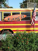 An old bus turned restaurant on the island of O'Ahu, Hawai?i