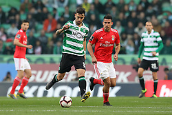 February 3, 2019 - Lisbon, PORTUGAL, Portugal - Bruno Fernandes of Sporting (L) vies for the ball with Gabriel of SL Benfica (R) during the League NOS 2018/19 footballl match between Sporting CP vs SL Benfica. (Credit Image: © David Martins/SOPA Images via ZUMA Wire)