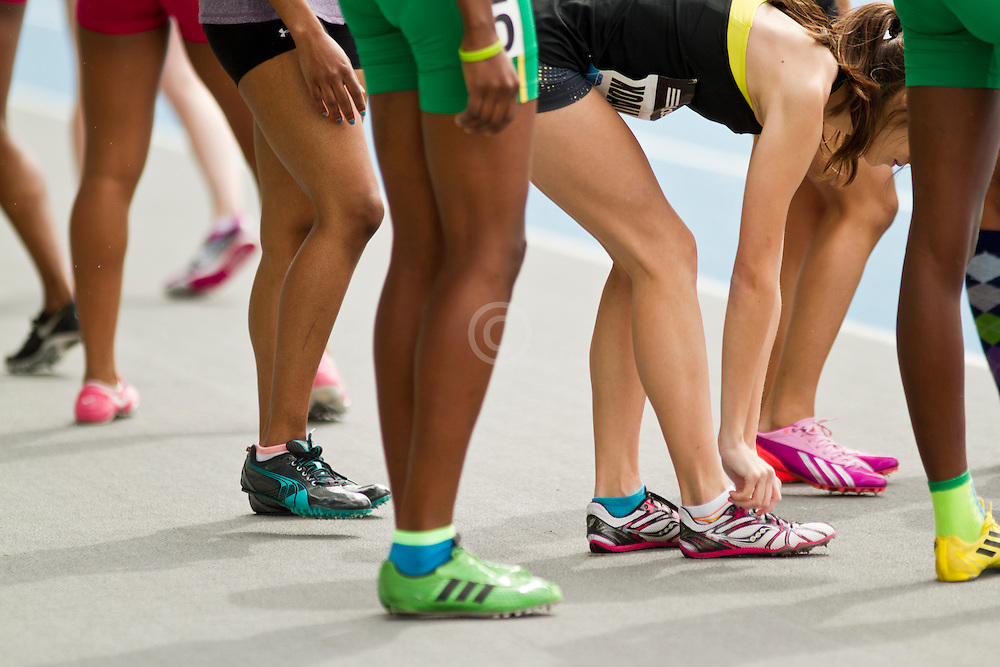 adidas Grand Prix track & field meet: relay runners legs before race