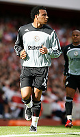 Photo: Steve Bond.<br />Arsenal v Derby County. The FA Barclays Premiership. 22/09/2007. Giles Barnes warms up before coming on as sub