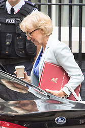 Downing Street, London, September 9th 2016.  Environment, food and Rural Affairs Secretary Andrea Leadsom arrives at Downing street for the weekly cabinet meeting following the Parliamentary summer recess.