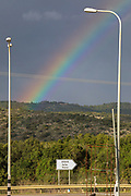 Rainbow. Photographed on the Israeli Lebanese Border in winter December