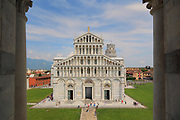 The Duomo in Pisa's Square of MIracles,  Italy, next to the Leaning Tower