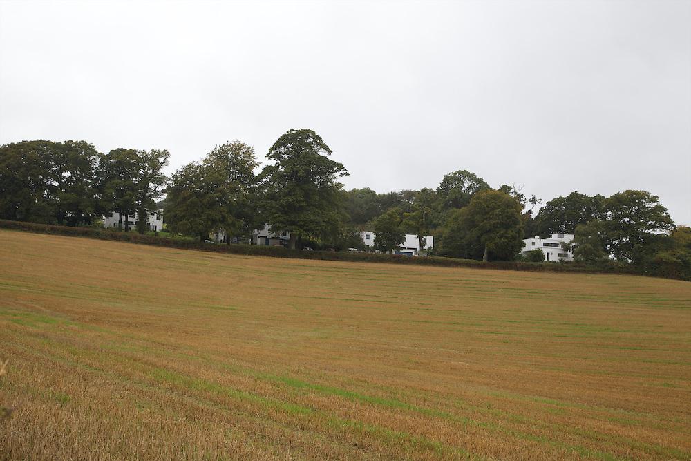 View looking back across the fields towards Warren House, Wayne McGregor's Dartington Estate home in Devon<br /> Vanessa Berberian for The Wall Street Journal