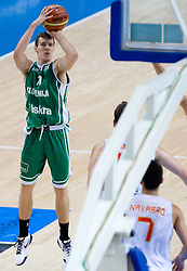 Goran Dragic (11) of Slovenia during the basketball match at Preliminary Round of Eurobasket 2009 in Group C between Slovenia and Spain, on September 09, 2009 in Arena Torwar, Warsaw, Poland. Spain won 90:84 after overtime.(Photo by Vid Ponikvar / Sportida)