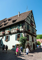 16th Century village of Riquewihr, Alsace, France<br /> <br /> (c) Andrew Wilson | Edinburgh Elite media