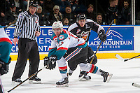 KELOWNA, CANADA - FEBRUARY 10: Erik Gardiner #12 of the Kelowna Rockets blocks a pass against the Vancouver Giants on February 10, 2017 at Prospera Place in Kelowna, British Columbia, Canada.  (Photo by Marissa Baecker/Shoot the Breeze)  *** Local Caption ***