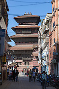 Looking down Freak St towards Durbar Square.