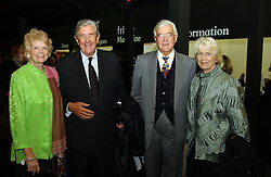 Left to right, LORD & LADY JOPLING and LORD & LADY BAKER at a private view of the 2004 Frieze Art Fair - a major exhibition attended by most of the leading contempoary art dealers held in Regents Park, London on 14th October 2004.NON EXCLUSIVE - WORLD RIGHTS