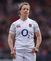 England Women's Katy Daley-Mclean<br /> <br /> Photographer Bob Bradford/CameraSport<br /> <br /> 2020 Women's Six Nations Championship - England v Wales - Saturday 7th March 2020 - The Stoop - London<br /> <br /> World Copyright © 2020 CameraSport. All rights reserved. 43 Linden Ave. Countesthorpe. Leicester. England. LE8 5PG - Tel: +44 (0) 116 277 4147 - admin@camerasport.com - www.camerasport.com
