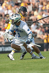 09 May 2009: North Carolina Tar Heels attackman Bart Wagner (1) during a 15-13 win over the University of Maryland - Baltimore County Retrievers on Fetzer Field in Chapel Hill, NC.