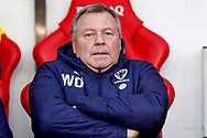Wimbledon Manager Wally Downes  during the EFL Sky Bet League 1 match between Sunderland and AFC Wimbledon at the Stadium Of Light, Sunderland, England on 2 February 2019.
