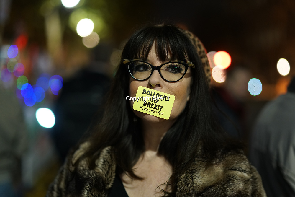 Anti-Brexit continues protest Bollocks to Brexit and It's not a done deal! on 21st November 2017 outside Downing Street, London, UK