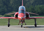 The RAF Red Arrows arrived and area school children were given a sneak preview of the STEM Expo on Friday at the Spirit of St. Louis Airshow & STEM Expo at the Spirit of St. Louis Airport in Chesterfield on September 6, 2019.<br /> Tim Vizer/Spirit of St. Louis Airshow & STEM Expo