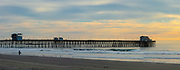 Waves at the Pier in Oceanside at Sunset