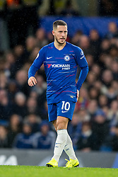 December 8, 2018 - London, Greater London, England - Eden Hazard of Chelsea during the Premier League match between Chelsea and Manchester City at Stamford Bridge, London, England on 8 December 2018. (Credit Image: © AFP7 via ZUMA Wire)