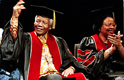 Nov 18, 2001 - Toronto, Ontario, Canada - NELSON MANDELA and his wife GRACA MACHEL receive their honary doctorates at Ryerson University.  (Credit Image: © Ron Bull/Toronto Star/ZUMAPRESS.com)