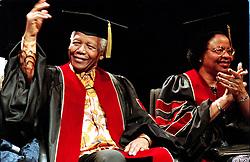 Nov 18, 2001 - Toronto, Ontario, Canada - NELSON MANDELA and his wife GRACA MACHEL receive their honary doctorates at Ryerson University.  (Credit Image: © Ron Bull/Toronto Star/ZUMAPRESS.com)