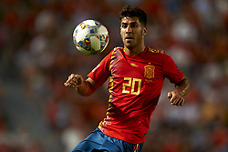 September 11, 2018 - Elche, Spain - Marco Asensio of Spain controls the ball during the UEFA Nations League football match between Spain and Croatia at Martinez Valero Stadium in Elche, Spain on September 8, 2018. (Credit Image: © Jose Breton/NurPhoto/ZUMA Press)