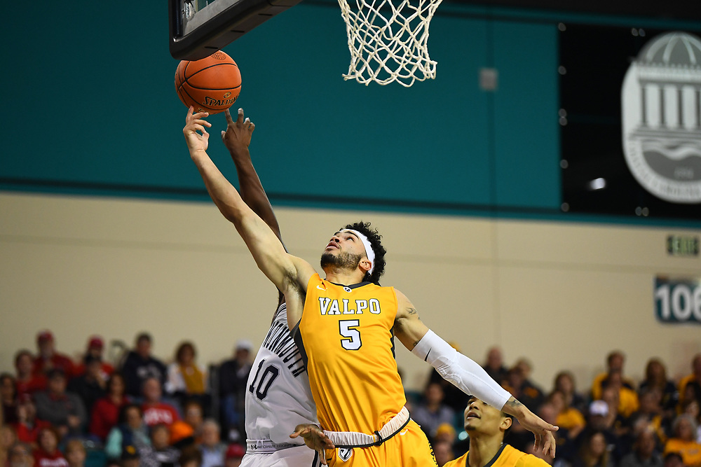 Conway, SC - November 16, 2018 - HTC Center: Markus Golder (5) of the of the Valparaiso University Crusaders during the 2018 Myrtle Beach Invitational.<br /> (Photo by Joe Faraoni / ESPN Images)