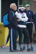 Amsterdam. NETHERLANDS. Left Coach Bernhard STOMPOROWSKIt and Caroline LIND, FISA World Rowing. Championships. De Bosbaan Rowing Course . 07:36:16  Thursday  21/08/2014  [Mandatory Credit; Peter Spurrier/Intersport-images]