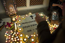 Muslim and catholic officials among faithfuls attend a vigil ahead of Tibhirine (or Tibehirine) monks beatification at Sainte-Marie cathedral in Oran, Algeria on Friday December 7, 2018. On the night of 26–27 March 1996, seven monks of the Trappist order from the Atlas Abbey of Tibhirine near Medea, Algeria were kidnapped during the Algerian Civil War. They were held for two months, and found dead in late May 1996. The circumstances of their kidnapping and death remain controversial; the Armed Islamic Group (Groupe Islamique Arme, GIA) claimed responsibility for both, but in 2009, retired General Francois Buchwalter reported that the monks were killed by the Algerian army. The Monks are being beatified on Saturday at a ceremony In Oran. Photo by Louiza Ammi/ABACAPRESS.COM