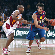 FC Barcelona Regal's Victor SADA (R) during their Euroleague group D matchday 5 Galatasaray between  FC Barcelona Regal at the Abdi Ipekci Arena in Istanbul at Turkey on Thursday, November 17 2011. Photo by TURKPIX