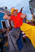 Stilt walkers during the Festival of San Sebastian in San Juan, Puerto Rico.