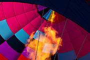 Flame firing into a hot air balloon