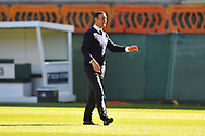 Plymouth Argyle manager Derek Adams during the warm up before the EFL Sky Bet League 1 match between Plymouth Argyle and Burton Albion at Home Park, Plymouth, England on 20 October 2018.