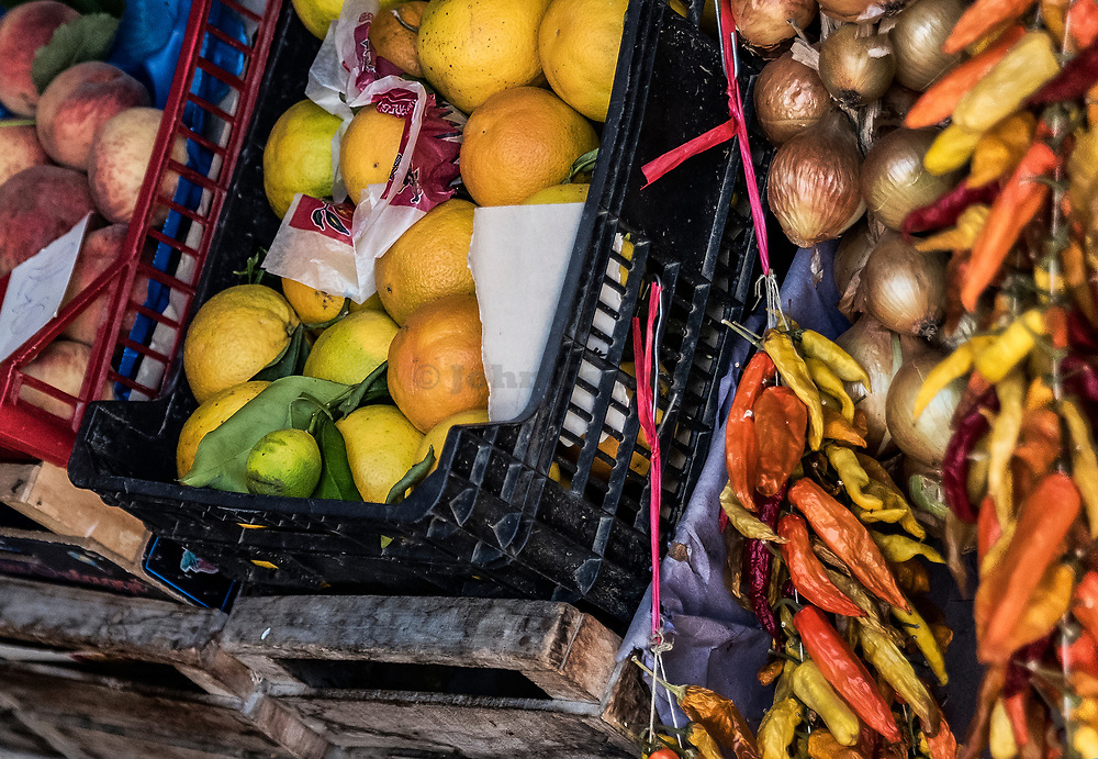 Produce vendor stall, Sorrento, Italy