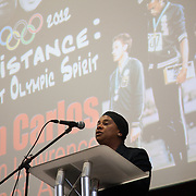 Resistance: The best Olympic Spirit. With John Carlos, Doreen Lawrence, Janet Alder and others. Doreen Lawrence, mother of Stephen Lawrence, killed in a racist attack.