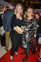 Left to right, JULIET FETHERSTONHAUGH and her mother in law NINA CAMPBELL at a private view of Marilyn - The Legacy of a Legend held at the Design Centre, Chelsea Harbour, London on 25th May 2016.