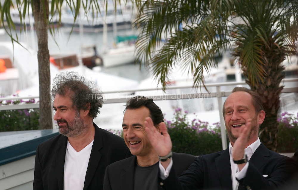 Director Gustave Kervern, Actor Albert Dupontel, Actor Benoît Poelvoorde, at Le Grand Soir photocall at the 65th Cannes Film Festival France. Tuesday 22nd May 2012 in Cannes Film Festival, France.