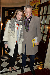 JEREMY VINE and RACHEL SCHOFIELD at Beautiful - The Carole King Musical 1st Birthday celebration evening at The Aldwych Theatre, London on 23rd February 2016.