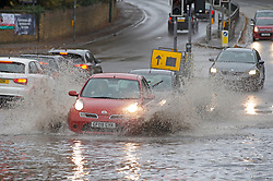 © Licensed to London News Pictures. 15/11/2020.  <br /> Aylesford, UK. Severe flooding to roads in Aylesford near Maidstone in Kent. Over one hundred flood alerts are put in place by the Met Office today as the UK is hit with heavy overnight rain and gale force winds. Photo credit:Grant Falvey/LNP