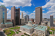 Ohio Statehouse in downtown Columbus, OH.