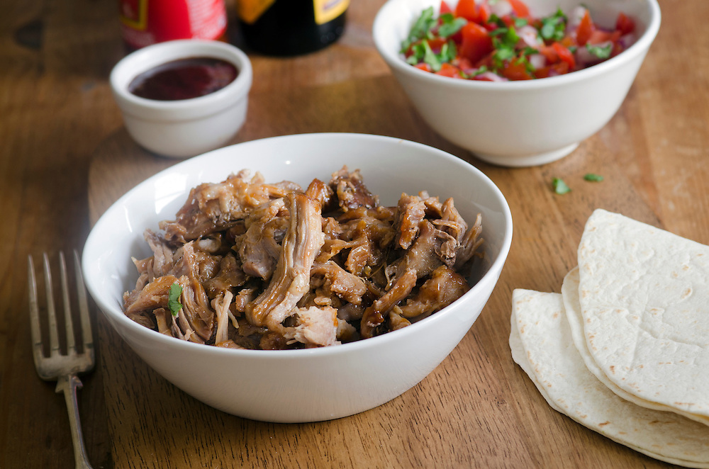 Slow-cooker chipotle pulled pork with salsa