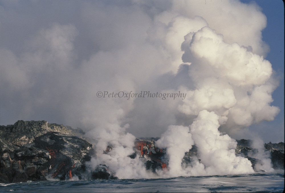 Volcanic Eruption<br /> February 1995, Cabo Hammond<br /> Fernandina Island,  GALAPAGOS, ECUADOR<br /> South America