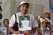 "Mothers from Central America who participate in the caravan ""Liberando la Esperanza"" speak in the International Book Fair in Mexico City on October 28th, 2012.<br /> Pictured: Carmen Lucía Cuarezma, from Nicaragua. (Photo: Prometeo Lucero)"
