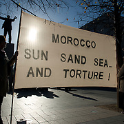 Demonstration against the occupation of the Western Sahara by Morocco.