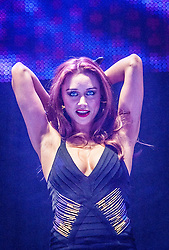 Una Healy of The Saturdays, on stage at Clyde 1 Live! at the SSE Hydro tonight, Friday 13th, 2013.