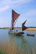 AREKG5 Sailing barge Cygnet River Alde Snape Suffolk England