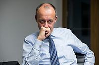 08 NOV 2018, BERLIN/GERMANY:<br /> Friedrich Merz, CDU, Rechtsanwalt, Manager und Kandidat fuer das Amt des Bundesvorsitzenden der CDU, waehrend einem Interview, Pariser Platz 6a<br /> IMAGE: 20181108-03-028