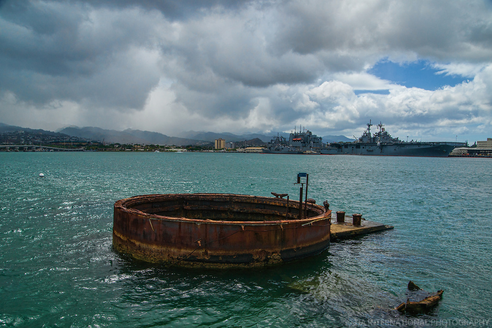 Exposed Hull of USS Arizona, Pearl Harbor