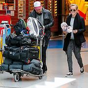 NLD/Amsterdam/20130123 - Johnny de Mol en partner Josje Huisman op Schiphol,