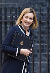 London, July 4th 2017. Home Secretary Amber Rudd attends the weekly cabinet meeting at 10 Downing Street in London.