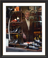Charlie Watts Surveys The Hand made Steppers in Bond Street, Large ,Museum-quality Archival signed Framed Print